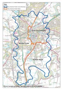 City of Durham Boundary and Wards map